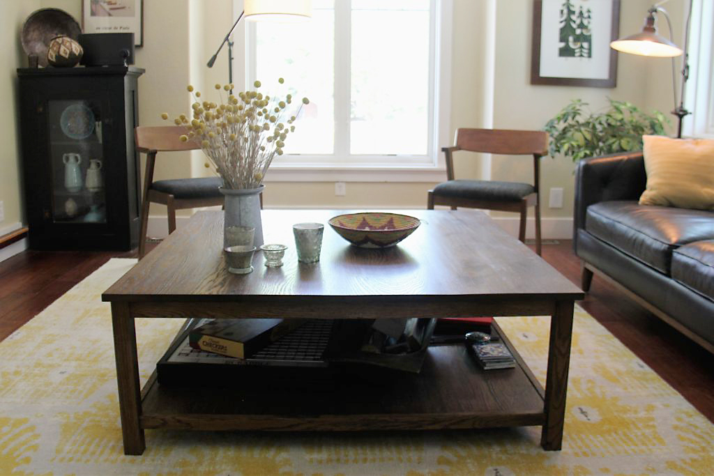 Custom White Oak Coffee Table